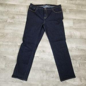 Old navy curvy mid rise skinny jeans dark wash